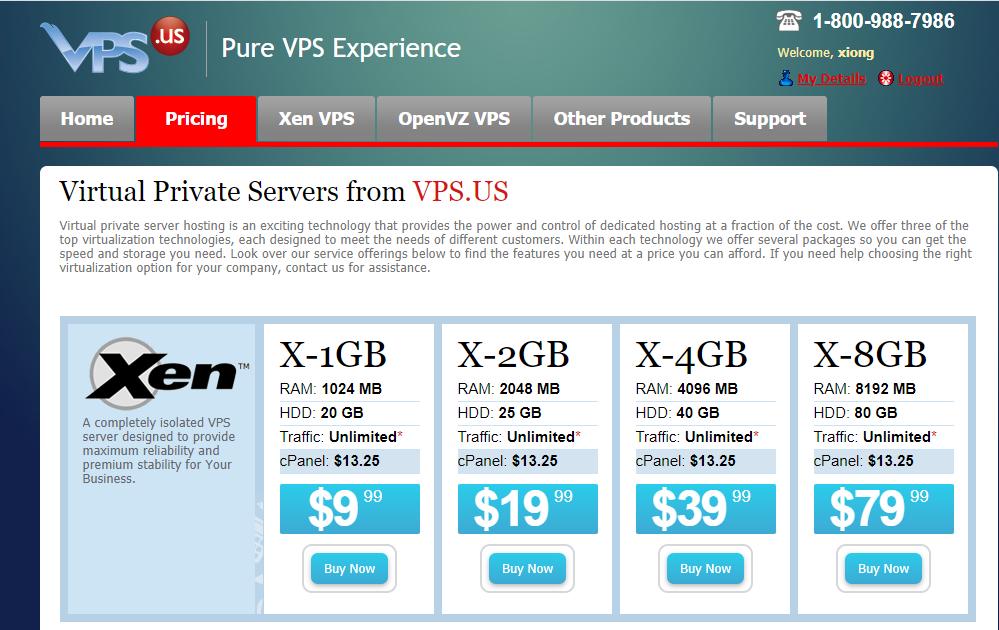 美国亚特兰大VPS.US 冷门VPS 1H1G 20G硬盘 不限流量 $9.99/月-VPS排行榜
