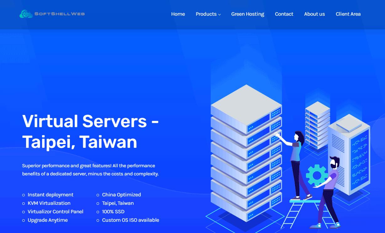 SoftShellWeb:台湾VPS 1核1G 49美元/年,荷兰vps 29美元/年,支持支付宝-VPS排行榜